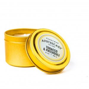 Paddywax | Tobacco & Patchouli | Gold Tin Travel Candle