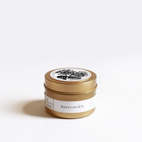 Vellabox honeysuckle gold tin candle for Different brands of candles