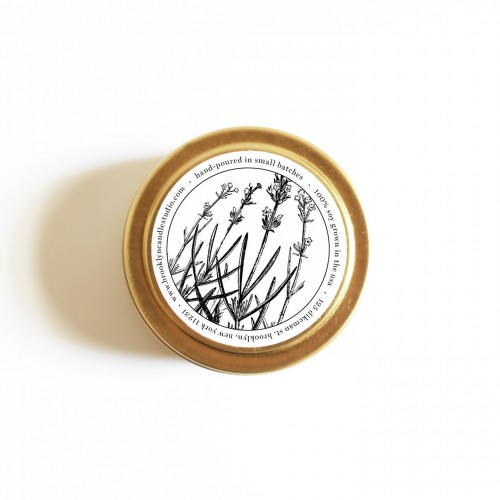 Vellabox brooklyn candle studio lavender gold tin for Different brands of candles