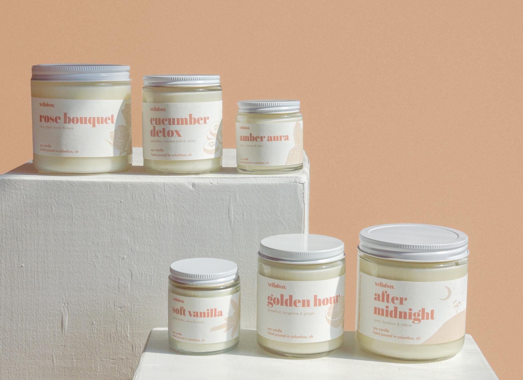 6 scents make the Vellabox signature collection