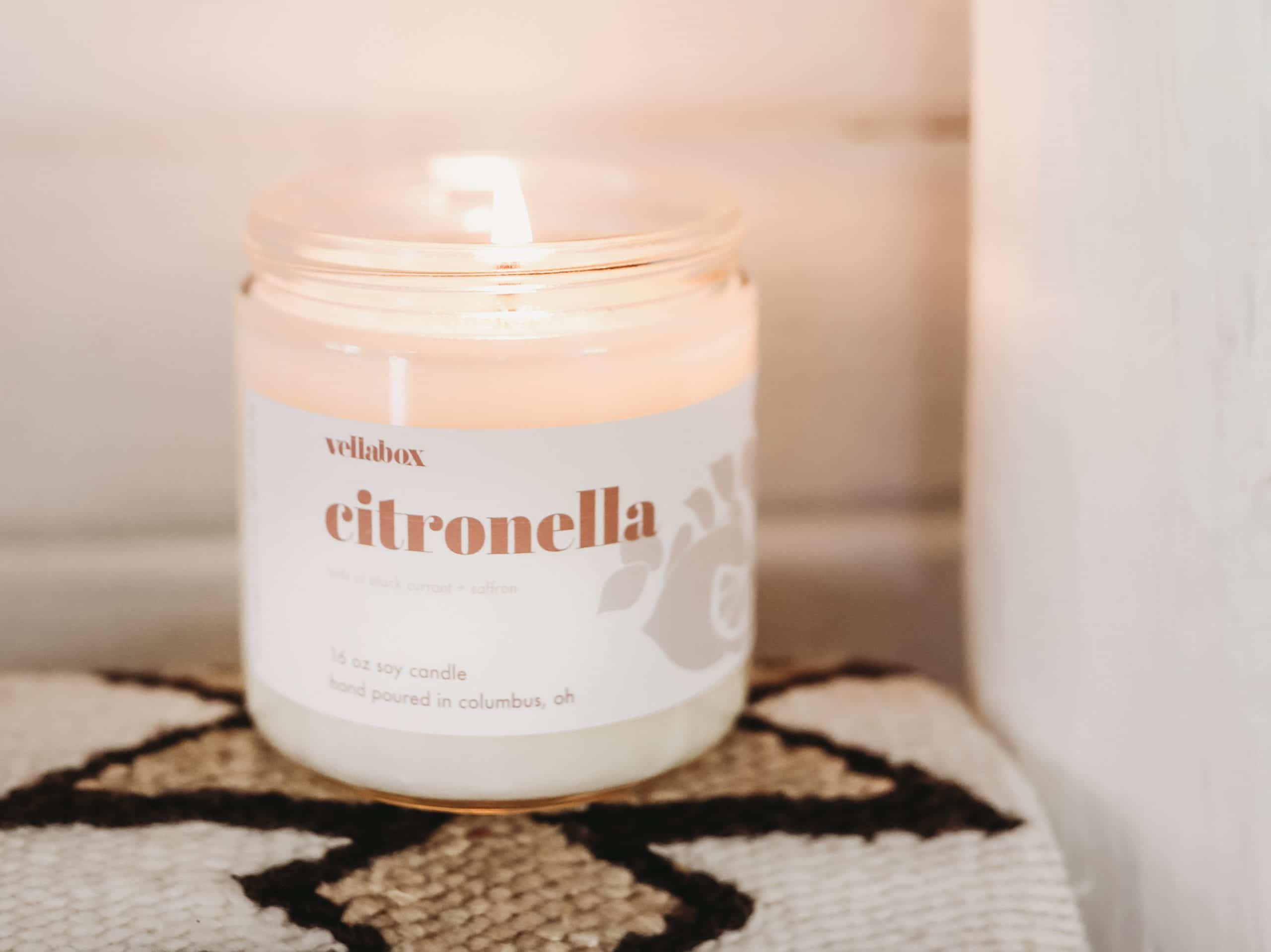 Buy Black Currant & Saffron Citronella Candle
